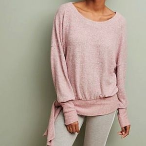 🛍CCO SALE🛍Sat/Sun ANTHRO NWT Pink Hacci Pullover